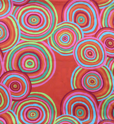 Kaffe Fassett extra wide fabric - Circles (Red)