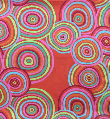Kaffe Fassett extra wide fabric - Circles (Red)
