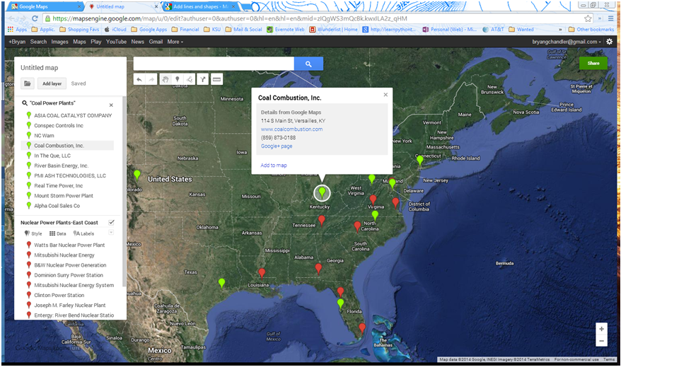 GIS Projects : Exporting Google Map Search Results to Excel