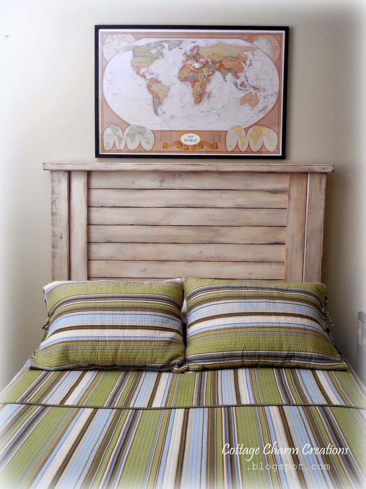 Cottage Charm Farmhouse Collection Shutter Style Headboard