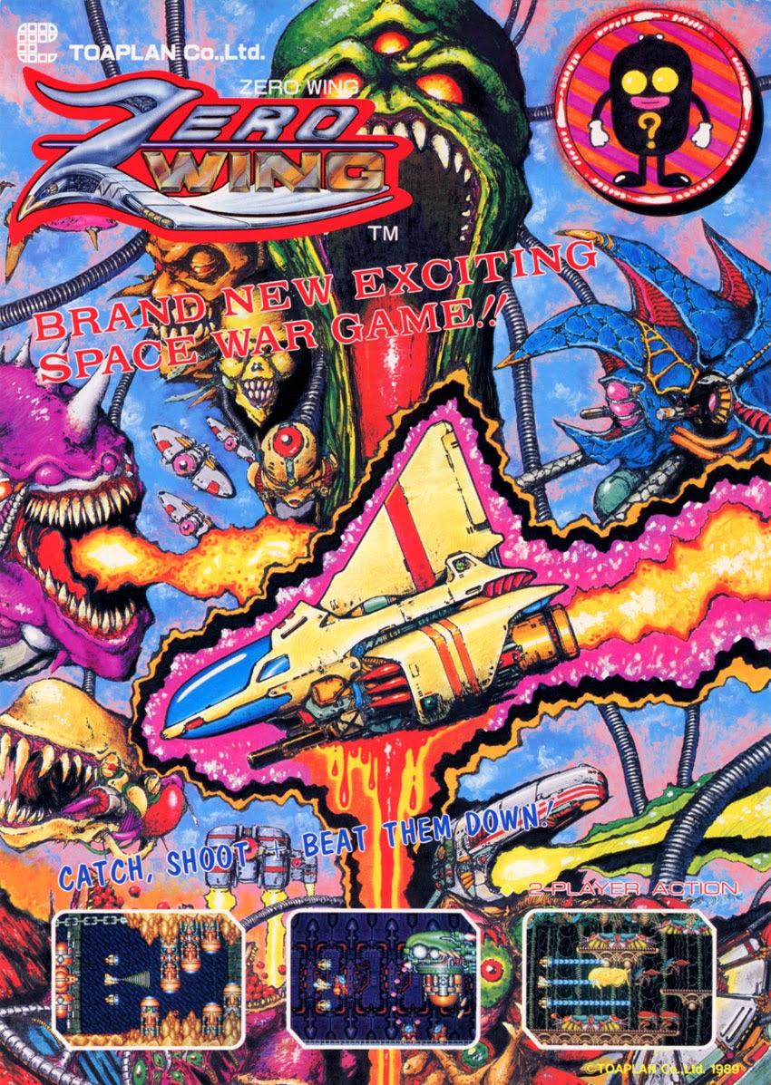 Zero Wing+arcade+game+retro+shootem up+flyer+art