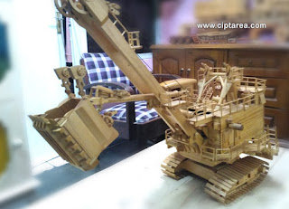 Wooden Miniature Electric Rope Shovel