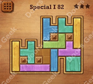 Cheats, Solutions, Walkthrough for Wood Block Puzzle Special I Level 82
