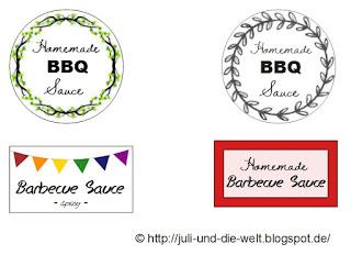 BBQ Sauce Etikett