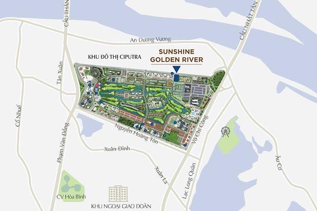 Vị trí dự án Sunshine Golden River
