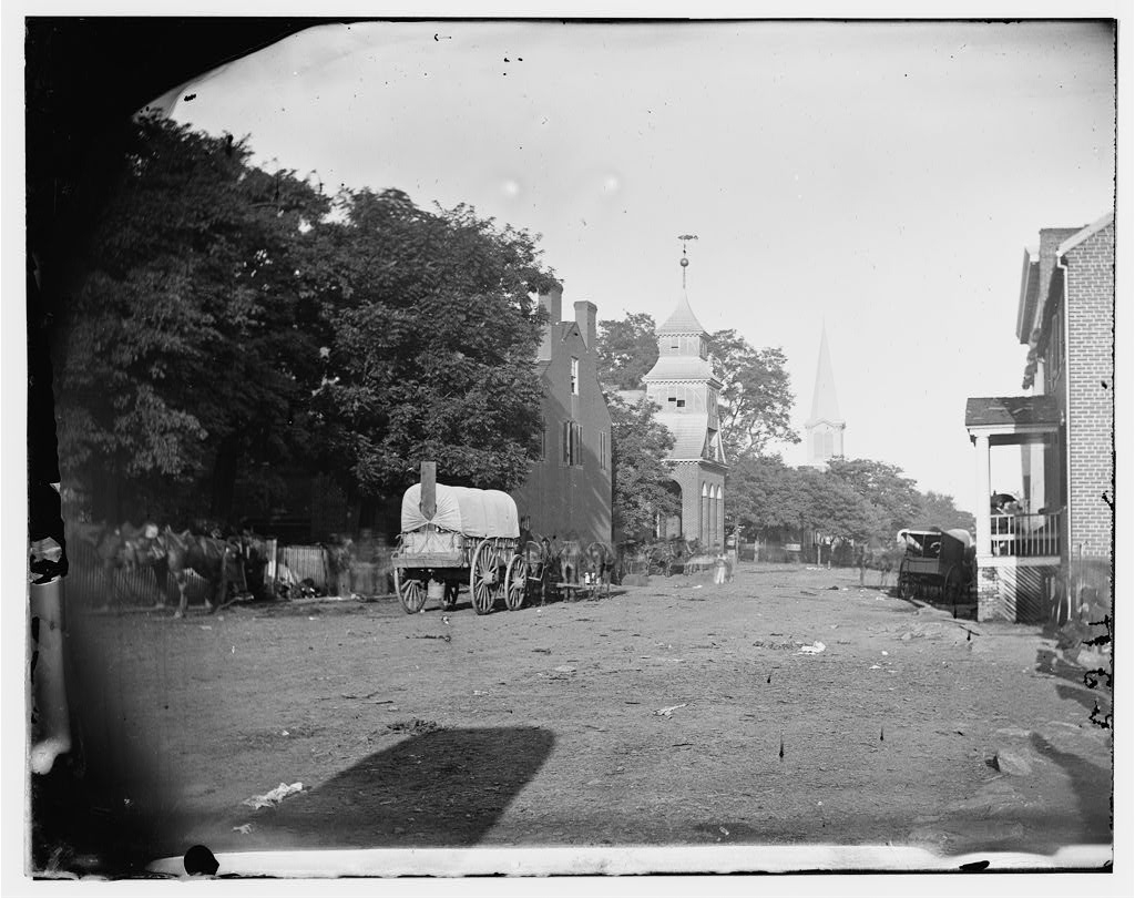 the deserted main street of culpeper courthouse during the first union occupation of the town in 1862 citizens stayed indoors to avoid the yankees
