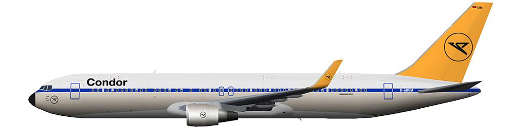 """kaese2002.de: Condor """"Retro"""" Boeing 767-300 winglets"""