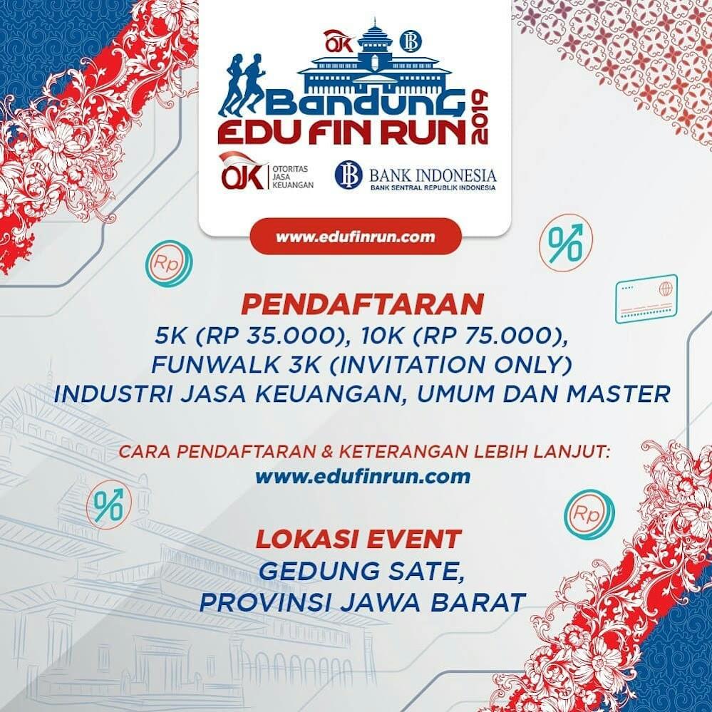 Daftar Bandung Edu Fin Run 2019