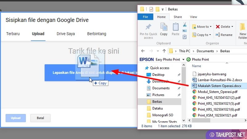 Pilih File - Cara Mengirim Tugas di Google Classroom