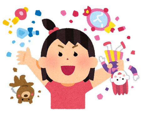 おもちゃを壊す子供のイラスト(女の子)