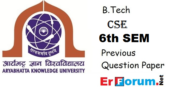 PDF] AKU B Tech 6th Sem Question Paper of Computer Science