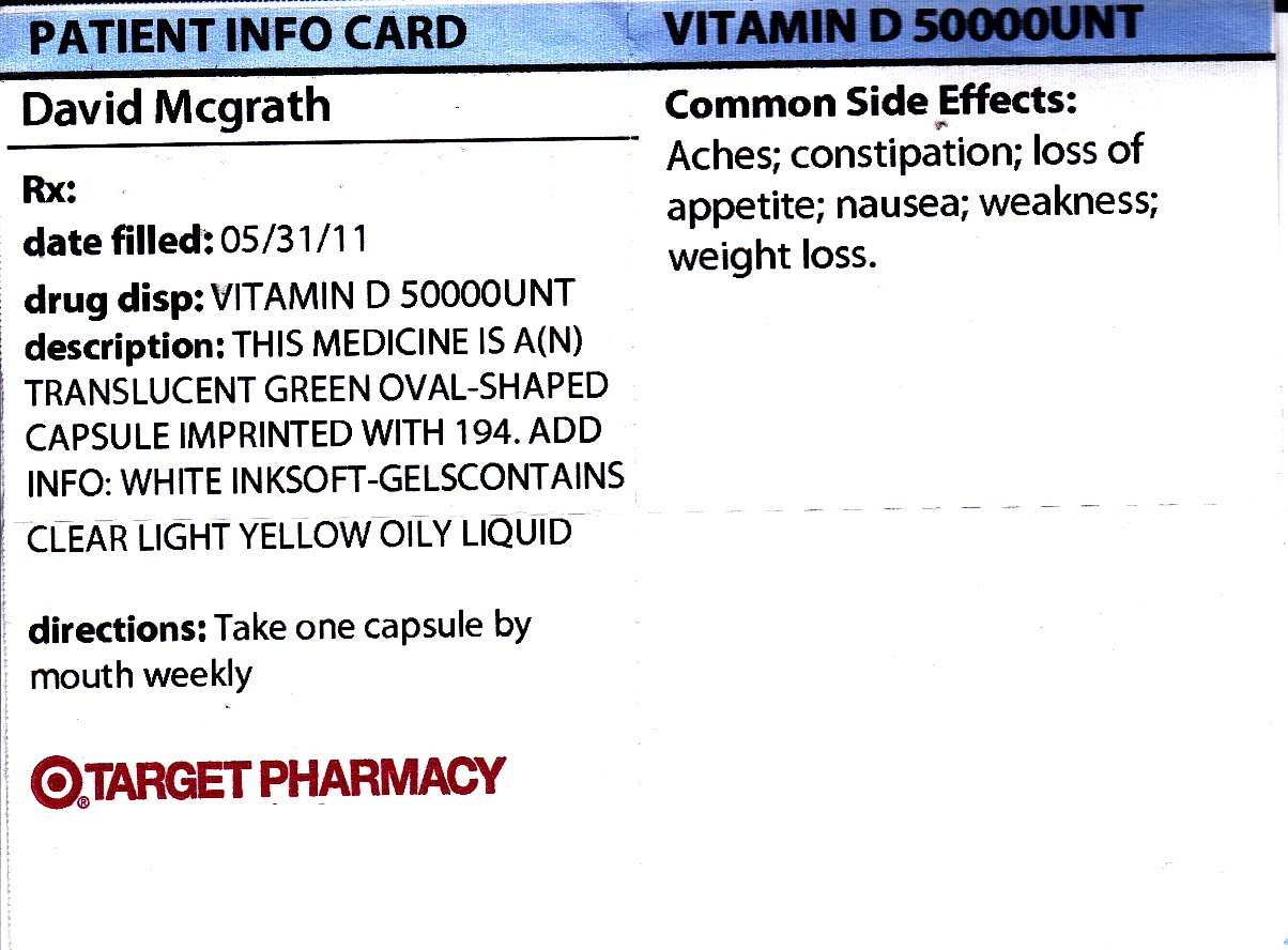 My Life Scanned: Vitamin D and Entocort Info Cards