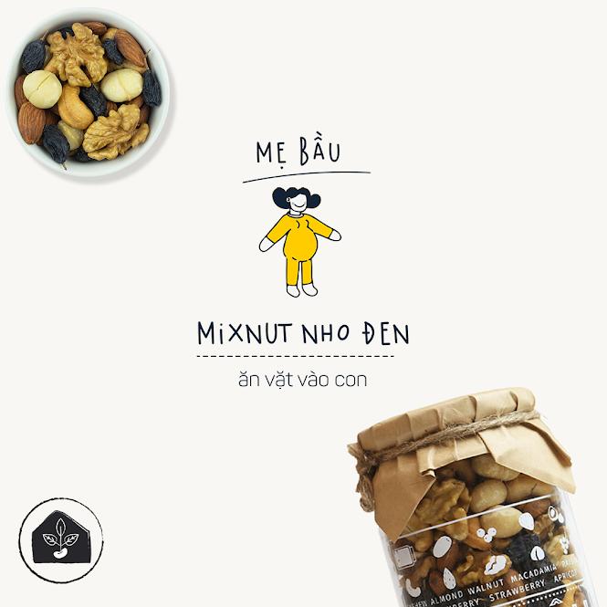 Mix hạt và quả dinh dưỡng cho Bà Bầu 100% tự nhiên