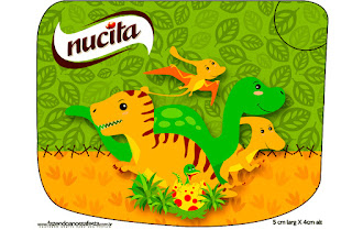 Dinosaurs Party Free Printable Candy Bar Nucita Labels.