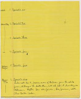 handwritten plan for star wars episodes
