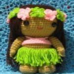 patron gratis muñeca hawaiana amigurumi | free pattern amigurumi hawaiana doll