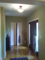 Interior painting. Painted walls and ceiling.