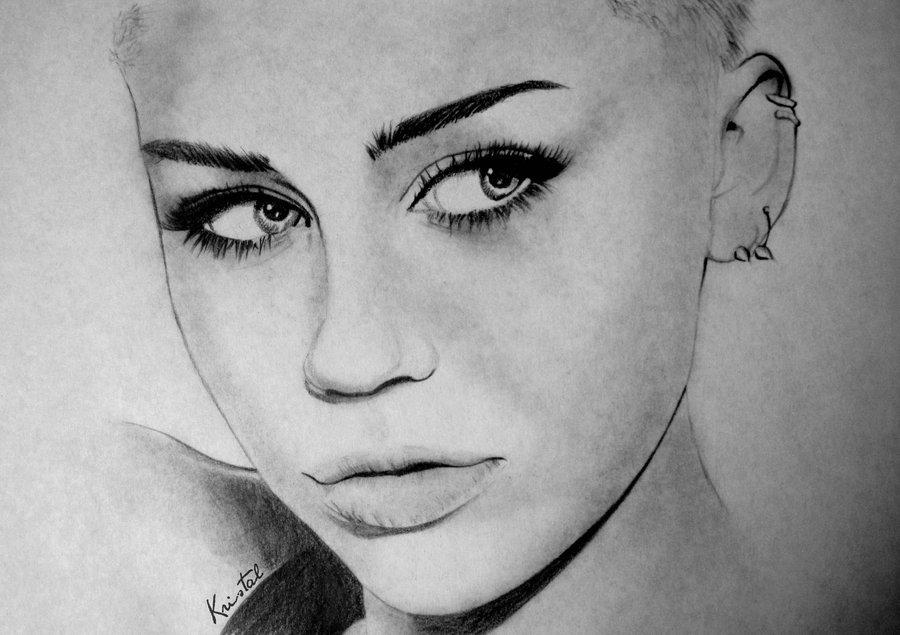 Miley Cyrus Karakalem çizimleri Karakalem çizimleri Karakalem