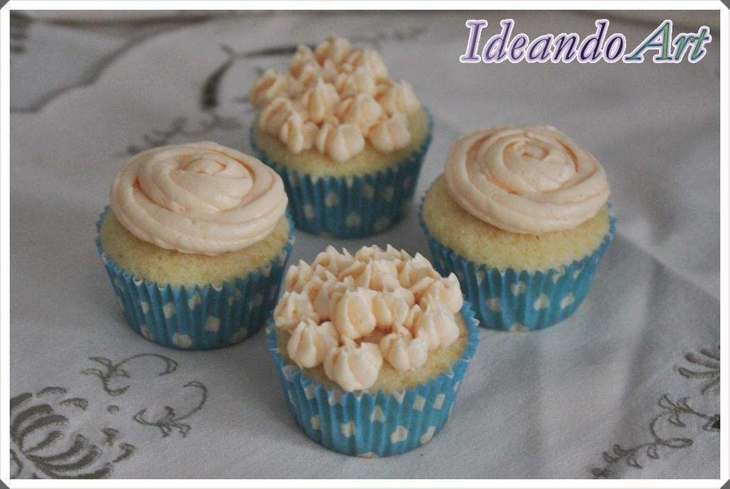 Cupcakes naranja buttercream