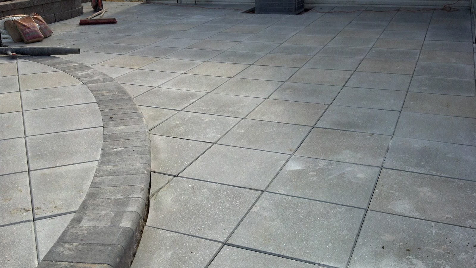 Gravel Lok Life Time Pavers: Prest Paver Slab Patio
