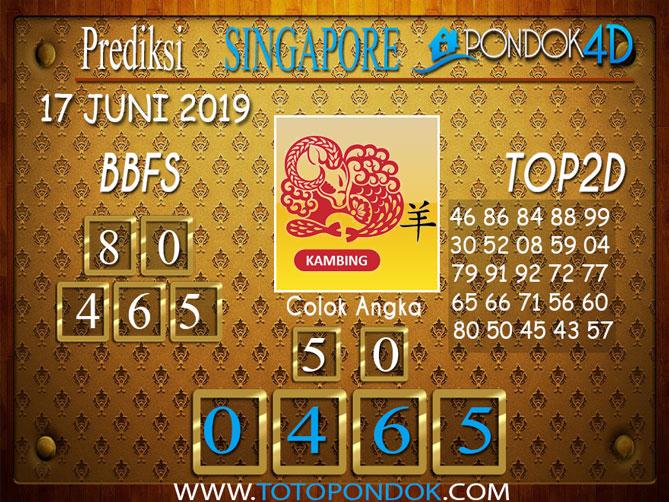 Prediksi Togel SINGAPORE PONDOK4D 17  JUNI 2019