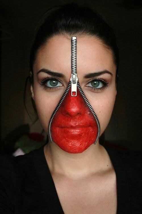 Deea Make Up Halloween Make Up Unzipped Face