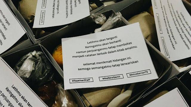 Secarik Kertas dalam Nasi Kotak untuk Peserta Aksi 212 Ini Bikin Mewek