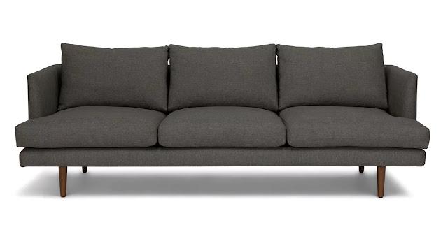 dark gray sofa for small living room