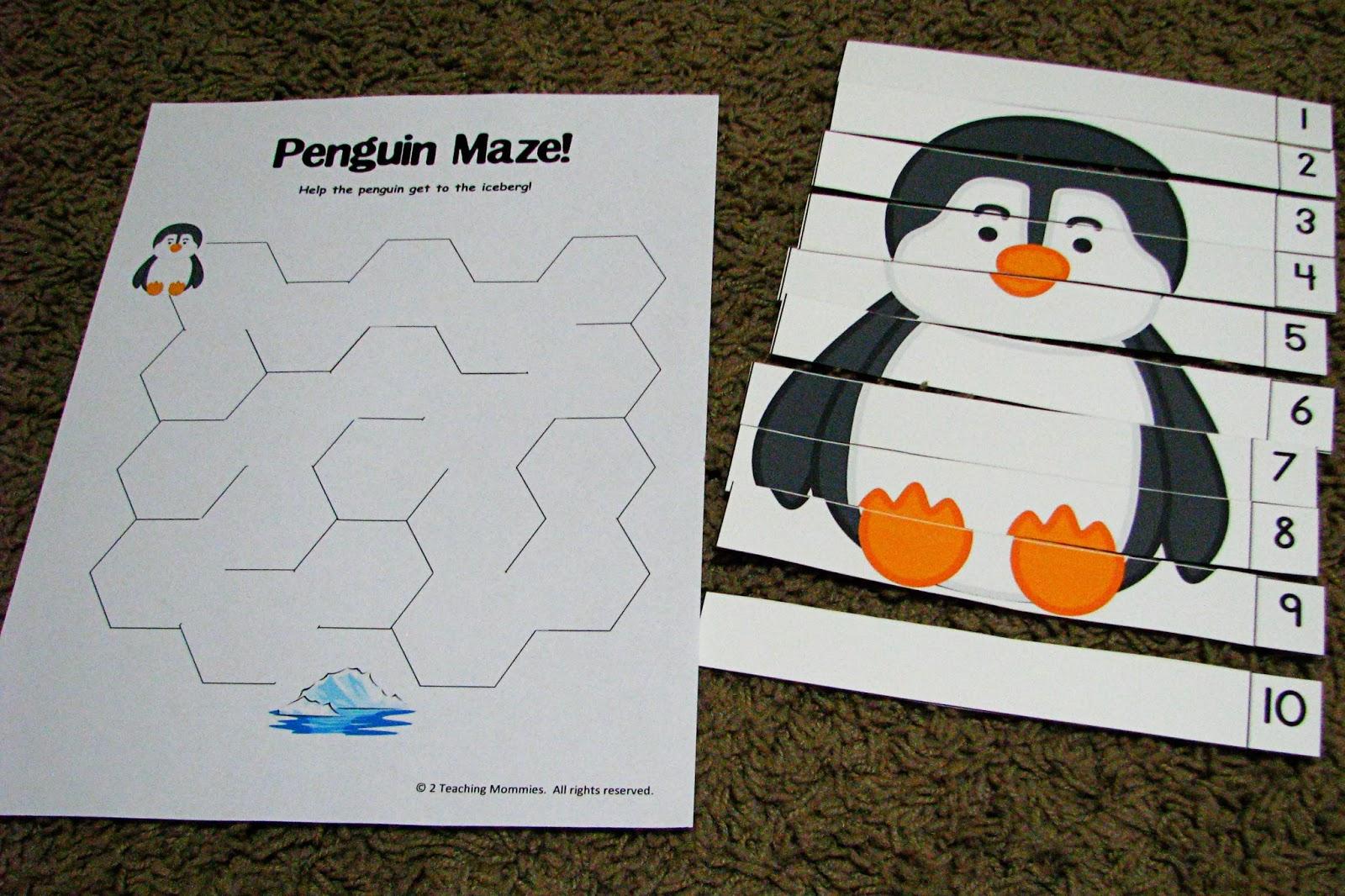 Mommy S Little Helper Letter P Penguin Preschool Theme