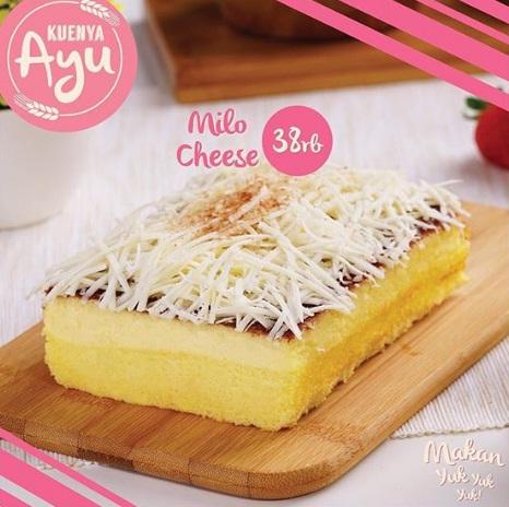 harga dan varian rasa kuenya ayu milo cheese