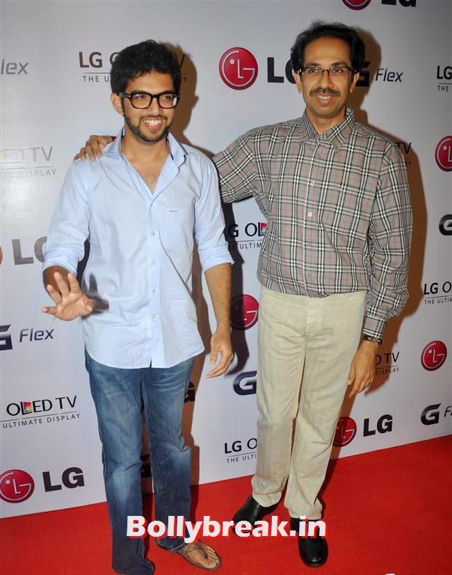 Aditya and Udhav Thackeray, Celebs at LG G Flex Smartphone Launch