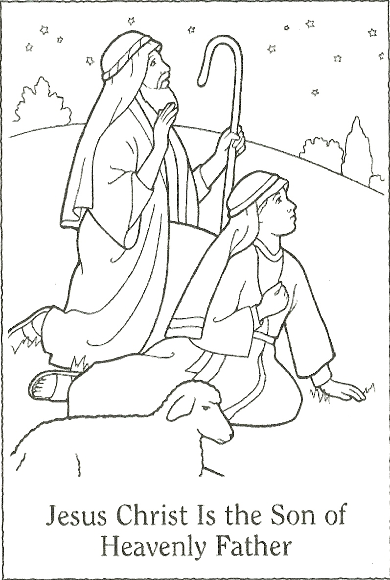 Free coloring pages of nativity template
