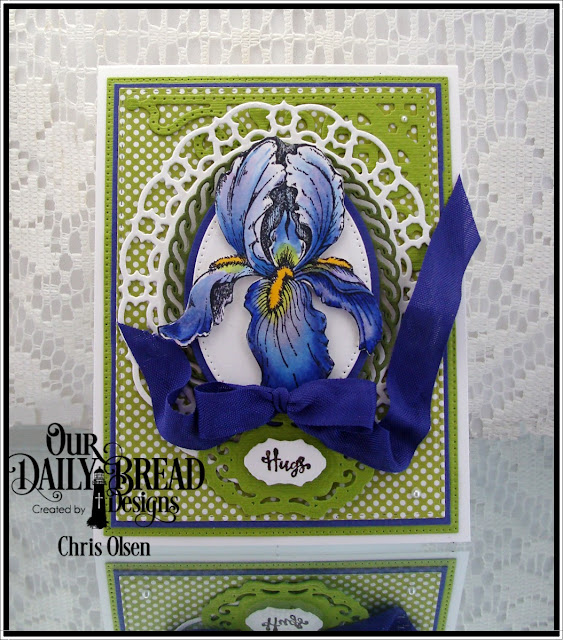 Our Daily Bread designs, True Friends stamp set, Layered Lacey Ovals, Vintage Borders dies, Decorative Corners dies, Pierced Rectangles dies,  Pierced Ovals dies, Ovals dies, and Birthday Brights designer paper. designed by Chris Olsen