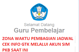 Jadwal cek info gtk melalui akun sim pkb