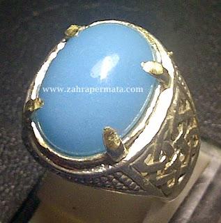 Cincin Batu Permata Posfor Biru - ZP 383