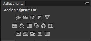 photoshop cs6 : adjustment tool