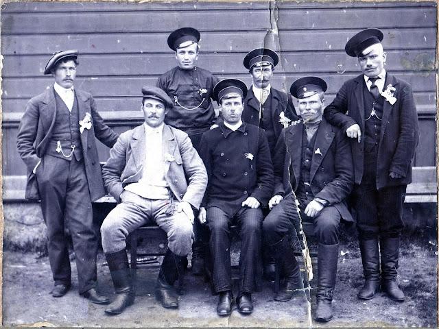 Ремонтные рабочие Забайкальской железной дороги 1916 год