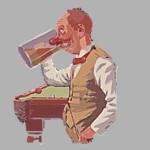 trinkender Mann