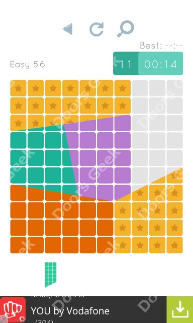 Cheats, Walkthrough for Blocks and Shapes Level 56