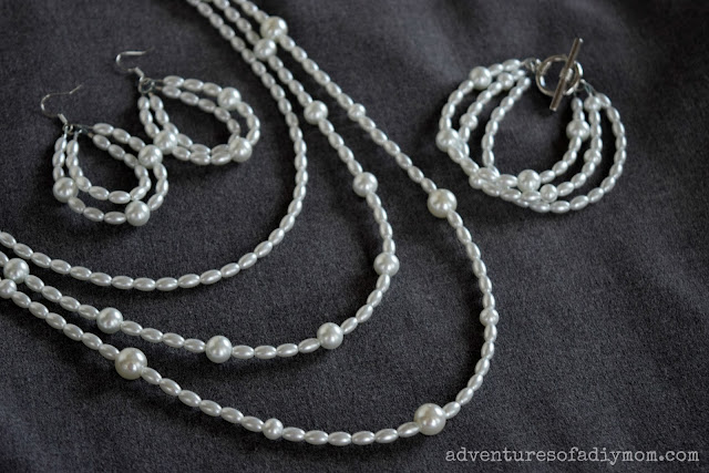 How to Make a Pearl Multi-strands Necklace, Bracelet and Earrings