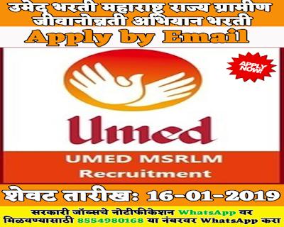 Umed MSRLM Recruitment 2019