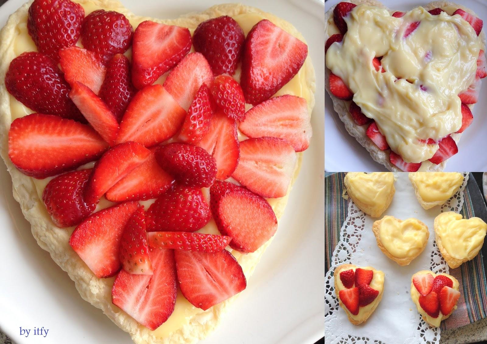 I Test For You Sonntagskuchen Blatterteig Vanille Erdbeere