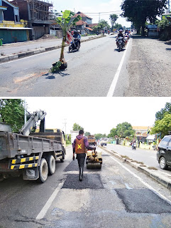 Kerusakan Jalan Protokol Mojokerto – Surabaya Viral di Sosmed, Satker PJN Lakukan Ini