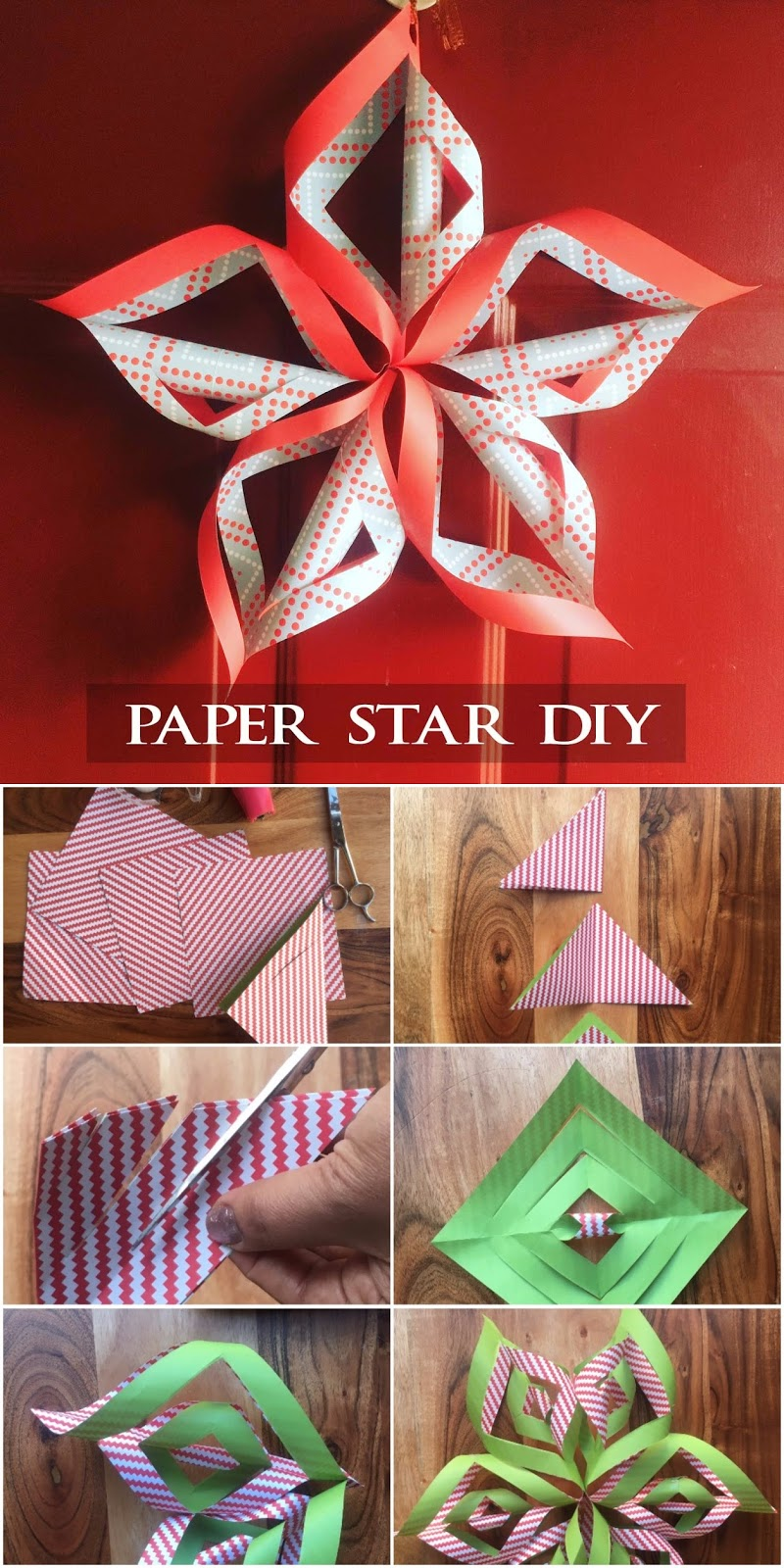 Christmas paper star diy and a giveaway handmade paper for Diy paper stars