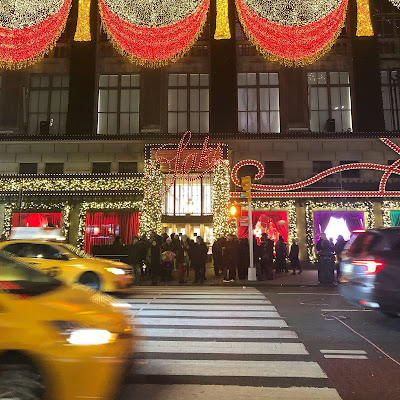 Saks department store at Christmas