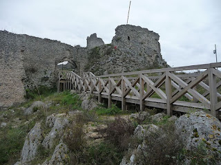 The remains of the castle at Roccasecca