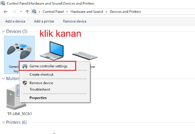 Game Controller Settings windows 10