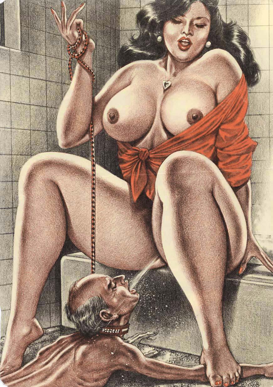 Раб туалетный женское доминирование