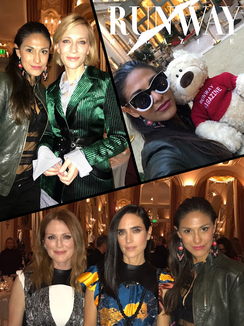 I'm with Cate Blanchett, Julianne Moore, Jennifer Connelly and my Abigail at Louis-Vuitton opening party in Paris.