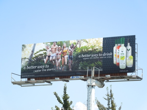 Veev Vita Frute water plants billboard